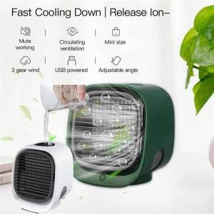 DHgate electric fans 300ml usb portable air cooler fan conditioner deskcooling humidifier purifier 7 night lights for office bedroom