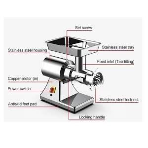 DHgate meat grinders powerful electric mincer stainless steel body heavy duty household mince sonifer