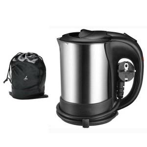 DHgate electric kettles 0.5l mini kettle stainless steel 1000w portable travel water boiler pot