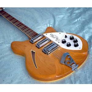 DHgate ric roger mcguinn 1988 370 maple glo natural 12 strings semi hollow electric guitar lacquer gloss fingerboard, 3 pickups, triangle inlay