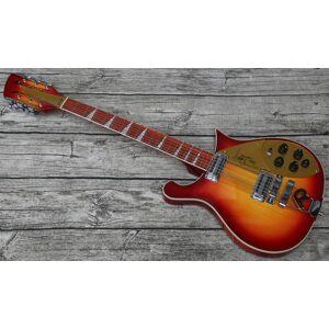 DHgate new custom made 12 strings guitar thru body ric 660 cherry red sunburst tom petty eletric guitar