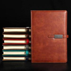 DHgate notepads pu leather a5 b5 journal notebook lined paper daily planner notepad with buckle stationery school supplies