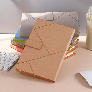 DHgate notepads thicken leather a5 b5 journal notebook business daily planner notepad with buckle stationery school supplies