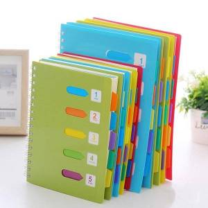 DHgate notepads yisuremia 120 sheets kawaii a5 b5 notebook colors diary book spiral binder agenda journal daily planner school office stationery