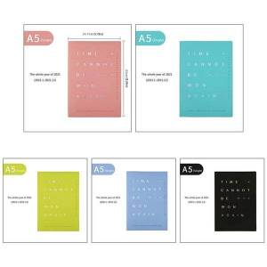 """DHgate large annual planner, """"time can not be won again """"yearly monthly weekly daily bound dated agenda flexible cover tabbed note notepa"""