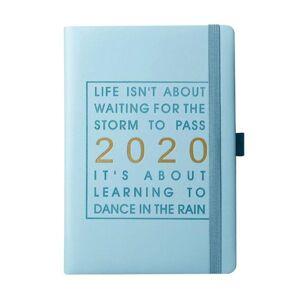 DHgate notepads monthly planner agenda journal daily schedule gift calendar english language jan-dec with pen holder thicken notebook