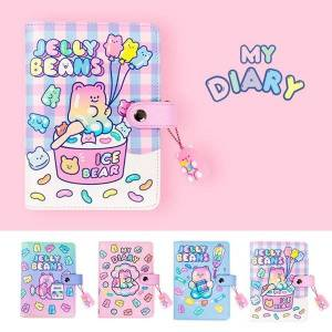 DHgate notepads cute a6 binder notebook diary spiral notepad 6 ring agenda planner organizer girl boy office school sketchbook plan daily