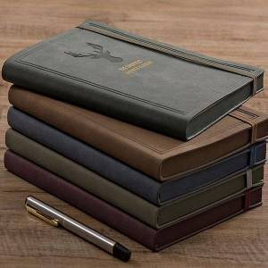 DHgate journals notebooks notepad leather a5 agenda planner daily business office work notebook diary 2021 school supplies budget book notepads