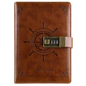 DHgate vintage notepad notebook diary daily memos planner agenda notebook pu leather sketchbook with lock office student password