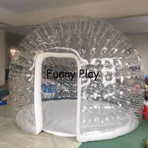DHgate 5m 6m giant family camping backyard l exhibition,luxury air tight inflatable house tents camping bubble tent ing