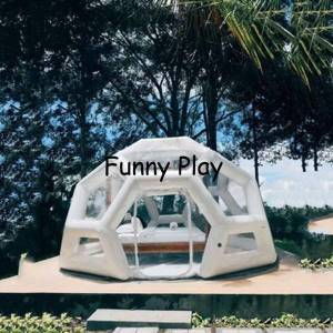 DHgate inflatable room,famaily backyard camping polygon tent,outdoor mosquito net tent,inflatable luxury lodging bubble l