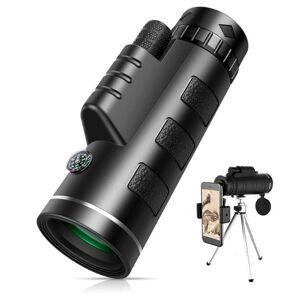 DHgate telescope & binoculars 40x60 monocular hd zoom with smartphone holde&tripod fmc bak4 weak night vision pocket