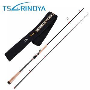 DHgate tsurinoya spinning rod 2.28m 2 section carbon lure fishing rod fuji reel seat and fuji guide ring cork handle lure weight 6-18g