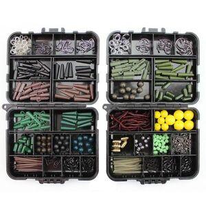 DHgate 189pcs/box portable fishing tackles box accessories kit set for carp bait lure ice winter accessoire tool sets
