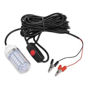 DHgate lixada 12v 15w underwater fishing light led lamp fish finding system green / blue white warm for carp pesca accessories