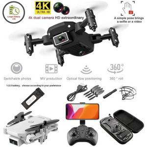 DHgate 1pcs dual camera drone 4k 1080p mini folding fixed height aircraft gesture p four axis aerial remote control helicopter drones toy e66