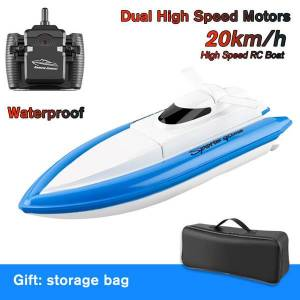 DHgate 800 remote control boats 2.4g 20km/h rc boat working 18min rc toy gift for kids adults boys girls with bag 1/2/3 battery