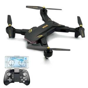 DHgate 2.0mp wide angle camera wifi fpv foldable drone one key return altitude hold g-sensor quadcopter rc toys as gift drones