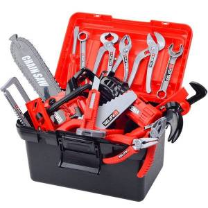 DHgate tool box toy repair tool toys set for boy children pretend play engineer simulation box toy toolbox plastic drill tools set gift