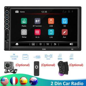 "DHgate swm n6 2 din car radio 7"" hd autoradio multimedia player 2din touch screen stereo video mp5 bluetooth usb aux fm backup camera car dvd"