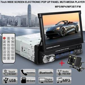"""DHgate car audio radio mp5 player 9601g 1din autoradio 7"""" hd retractable touch screen stereo sd fm usb with rear view camera1"""