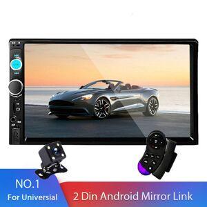 "DHgate 2 din car radio 7"" hd autoradio multimedia player 2din touch screen auto audio car dvd player stereo mp5 bluetooth usb tf fm camera"