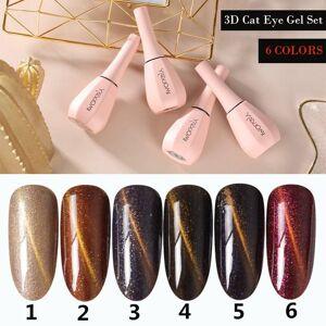 DHgate 15ml cat eye nail gel set uv led lamp dryer with 6pcs nail gel polish kit soak off set electric drill for tools