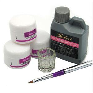 DHgate wholesale- pro acrylic nail powder liquid 120ml brushes deppen dish acryl poeder nail art set design acrilico manicure kit 153#