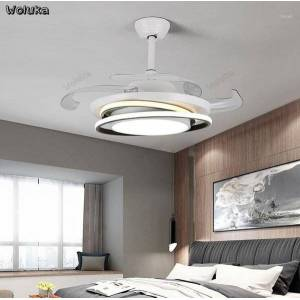 DHgate nordic modern living room dining room bedroom side illuminated remote control led ceiling lamp with fan chandeliers cd50 w071