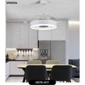 DHgate modern nordic living room bedroom integrated dual-purpose remote control mute led ceiling fan light cd50 w071