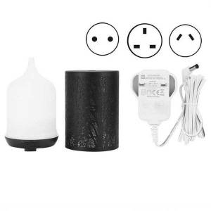 DHgate humidifiers 300ml air humidifier 2 in 1 ambient night light aroma aromatherapy diffuser black 100-240v home appliance