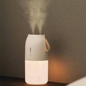DHgate humidifiers 300ml dual sprayer air humidifier 2000mah usb rechargeable battery wireless aroma mist maker fogger diffuser light umidificador
