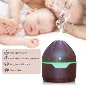 DHgate humidifiers electric aroma air diffuser humidifier 300ml wood ultrasonic essential oil aromatherapy cool mist maker for home spa