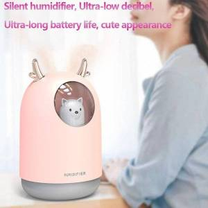 DHgate humidifiers home bass 300ml air humidifier essential oil diffuse eliminate clean care for skin nano spray technology 7 color lights usb