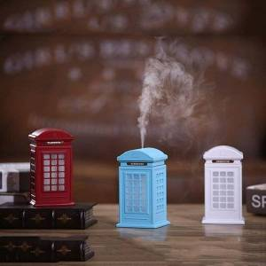 DHgate humidifiers ultrasonic mist maker fogger telephone booth with 7 color changing led lamp atomizer car mini usb air humidifier 300ml