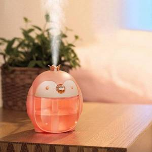 DHgate humidifiers holiday gift tablemini penguin air humidifier for home office dormitory 300ml light oil diffuser h16 green