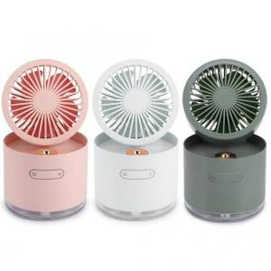 DHgate electric fans 300ml humidifier fan 2 in 1 portable mini usb charging silent adjustable spray cooling