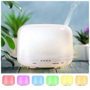DHgate air humidifier essential oil diffuser 300ml 500ml led lamp aroma diffuser electric ultrasonic cool mist maker fogger humidifier