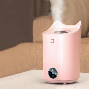 DHgate humidifiers 4l usb humidifier 300ml smart wireless electric moisturizer household office silent fog air with colorful lights