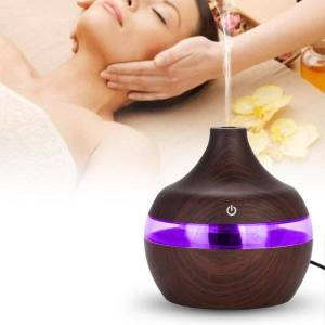 DHgate humidifiers 300ml spa yoga humidifier electric aroma air diffuser wood ultrasonic essential oil aromatherapy cool mist maker