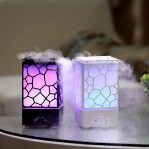 DHgate humidifiers portable 300ml humidifier water cube aroma diffuser ultrasonic atmosphere colorful light for home