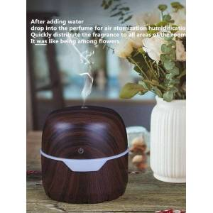 DHgate humidifiers ultrasonic wood grain humidifier treasure box 300ml aroma diffuser air with 7 color led replacement