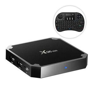 Geekbuying X96 MINI Android 7.1.2 Amlogic S905W 4K KODI 17.3 TV BOX Media Player 2GB/16GB + Rii Wireless Israel Hebrew Keyboard Black