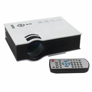 Geekbuying UC40 55WHD 1080P Mini Home 1080P LED Projector 50Lm W/HDMI AV SD USB Remote Control - White