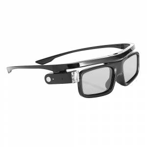 Geekbuying GL1800 Universal 3D Active DLP-Link Glasses for PC Notebook TV Football Gaming Projector - Black
