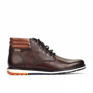PIKOLINOS leather Ankle Boots BERNA M8J  - MARRON OSCURO - Size: 9.5-10