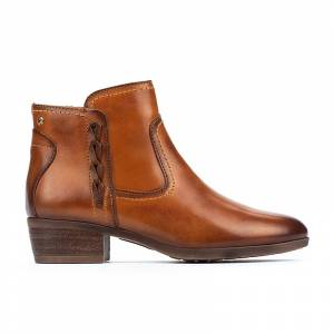 PIKOLINOS leather Ankle Boots DAROCA W1U  - MARRON CLARO - Size: 4.5-5
