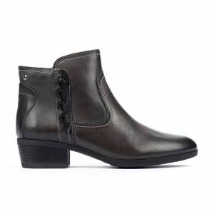 PIKOLINOS leather Ankle Boots DAROCA W1U  - GRIS - Size: 6.5-7