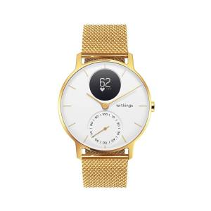 Withings Steel HR Limited Edition, 36mm, White & Gold - Hybrid Smartwatch - Heart rate & Smartphone notifications - Withings Official Store