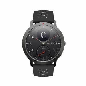Withings Steel HR Sport, Black - Multisport Hybrid Smartwatch - Heart rate tracking, Connected GPS, Notifications - Withings Official Store